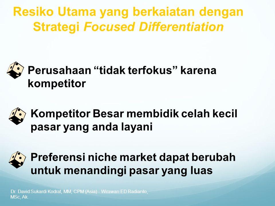 """Dr. David Sukardi Kodrat, MM, CPM (Asia) - Wirawan ED Radianto, MSc, Ak. Perusahaan """"tidak terfokus"""" karena kompetitor Kompetitor Besar membidik celah"""