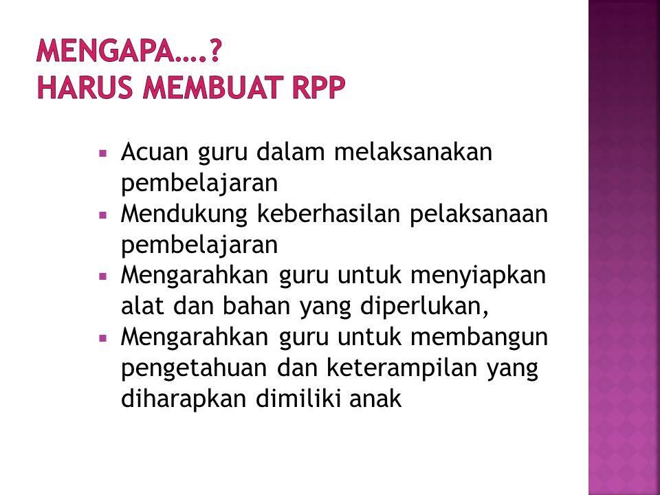  PROGRAM SEMESTER  (RPPM – Rencana Pelaksanaan Pembelajaran Mingguan  (RPPH – Rencana Pelaksanaan Pembelajaran Harian)
