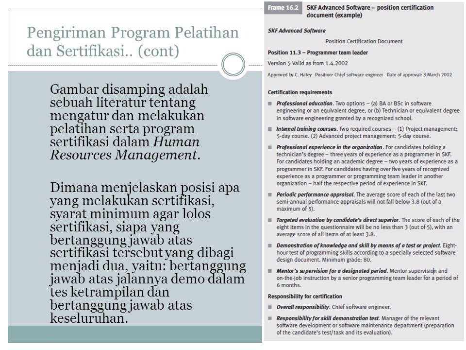 Pengiriman Program Pelatihan dan Sertifikasi..