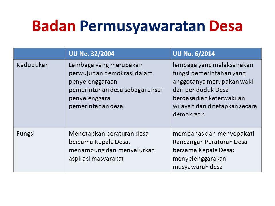 Badan Permusyawaratan Desa UU No.32/2004UU No.