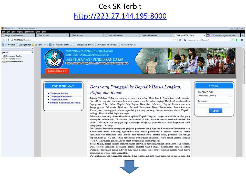 Cek SK Terbit http://223.27.144.195:8000