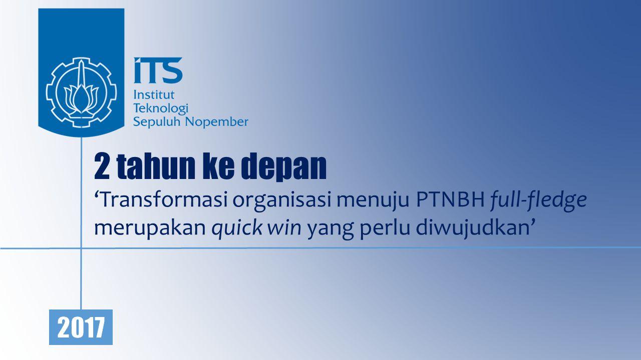 2 tahun ke depan 'Transformasi organisasi menuju PTNBH full-fledge merupakan quick win yang perlu diwujudkan'