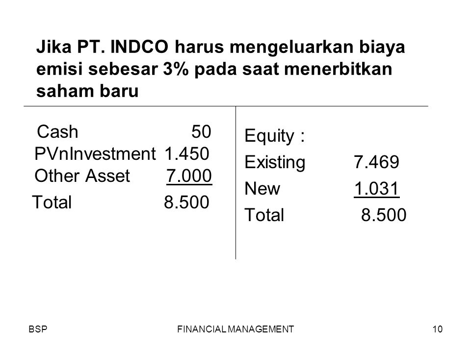 BSPFINANCIAL MANAGEMENT10 Jika PT.