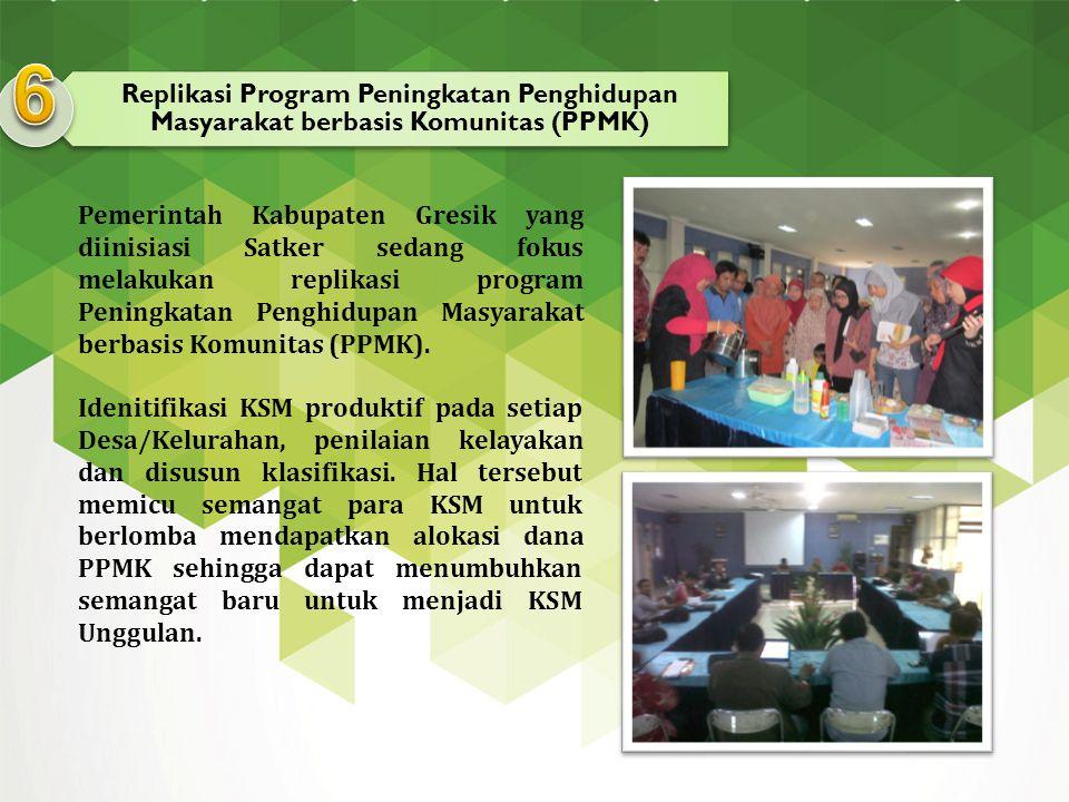 Replikasi Program Peningkatan Penghidupan Masyarakat berbasis Komunitas (PPMK) Pemerintah Kabupaten Gresik yang diinisiasi Satker sedang fokus melakuk