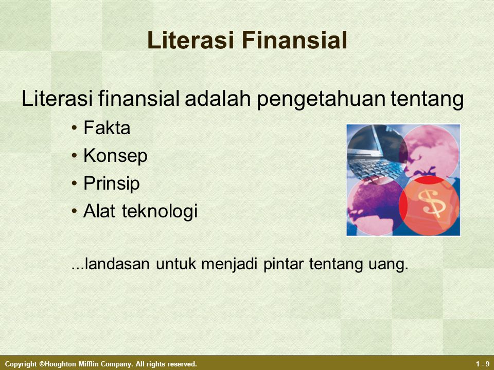 GOAL SETTING/GOAL GETTING PROCESS: Personal Assets Financial Assets Goal s Money making 1.