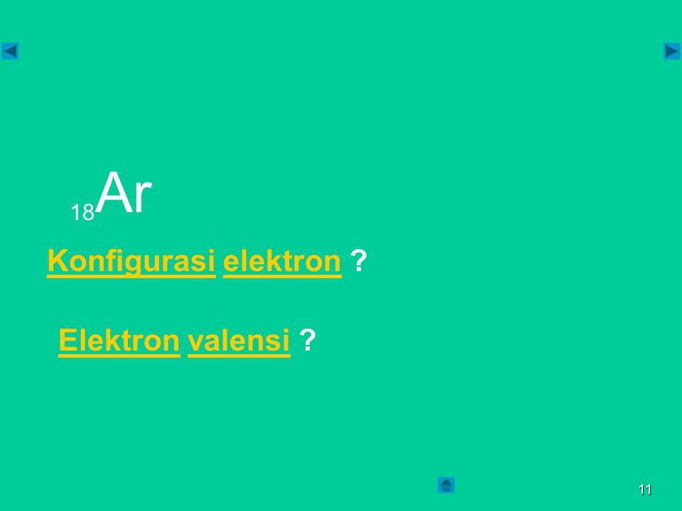 10  Elektron valensi : 8