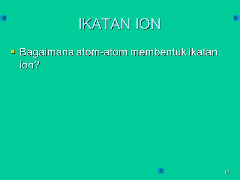 16  Elektron valensi : 8