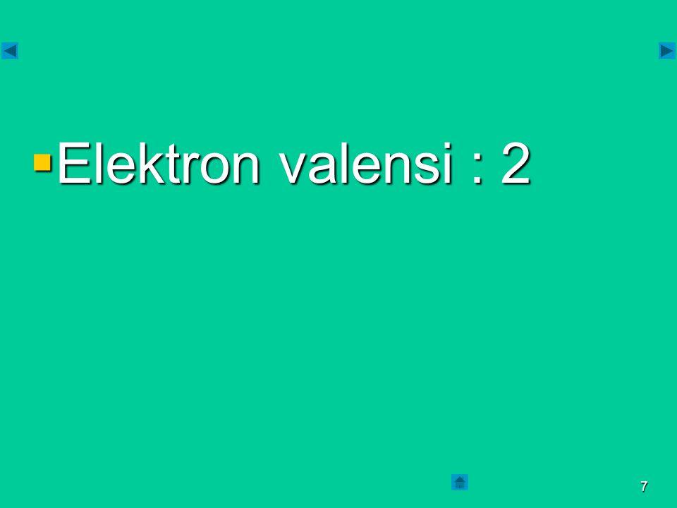 6  Konfigirasi elektron : 2