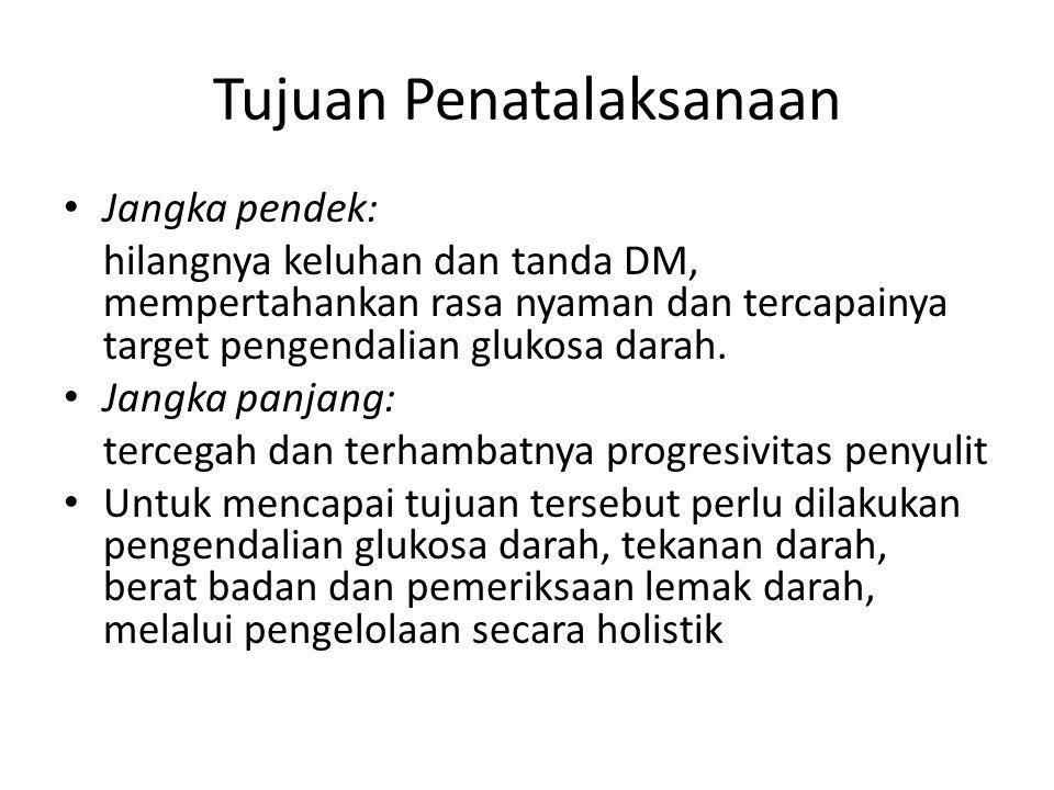 Bagaimana langkah-langkah penatalaksanaan DM.