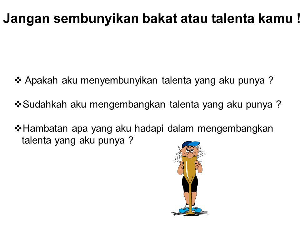 Usaha aku untuk mengembangkan talenta ku .