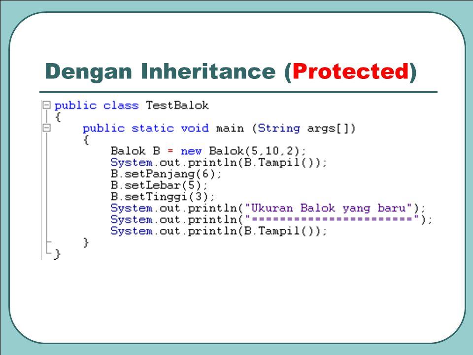 Dengan Inheritance (Protected)