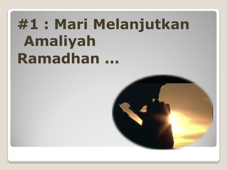 Ada Apa Setelah Ramadhan ?