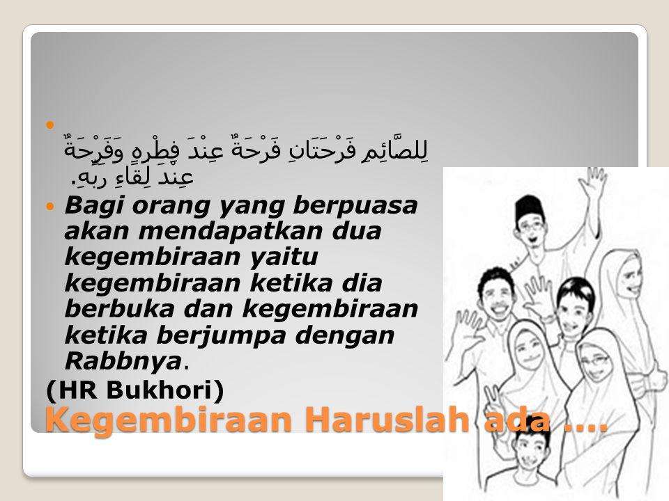 Saat Ramadhan Berlalu, Apakah yang terasa di hati kita ? Sedih.... Senang.....