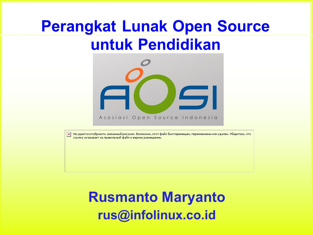 Hambatan Linux di Indonesia Tidak ada perusahaan yang promosi Linux, sehingga banyak pengelola sekolah (terutama guru dan teknisi/laboran) belum faham manfaat Linux bagi pendidikan.