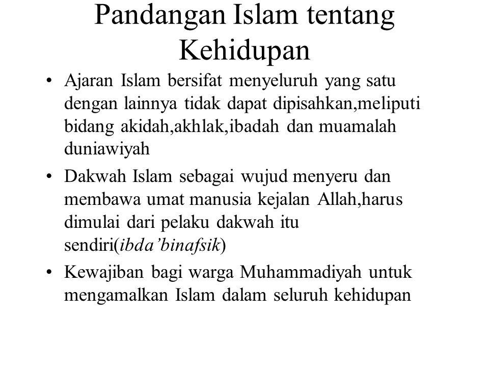 Lanjutan 4.Menggairahkan Al Islam dan al jihaddalam seluruh gerakan persyarikatan dan suasana di lingkungan persyarikatan 5.Setiap anggota pimpinan Persyarikatan hendaknya menunjukkan keteladanan dalam bertutur kata,bertingkah laku,beramal,berjuang,disiplin,tanggung jawab 6.Dikembangkan disipli tepat waktu dalam rapat- rapat,pertemuan-pertemuan dan kegiatan-kegiatan 7.Hendaknya ditumbuhkan pengajian-pengajian singkat(kultum),mengindahkan waktu sholat dan jamaah