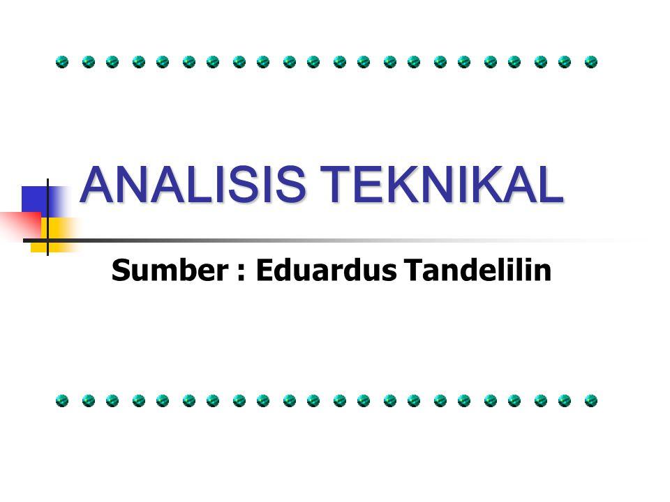 ANALISIS TEKNIKAL Sumber : Eduardus Tandelilin