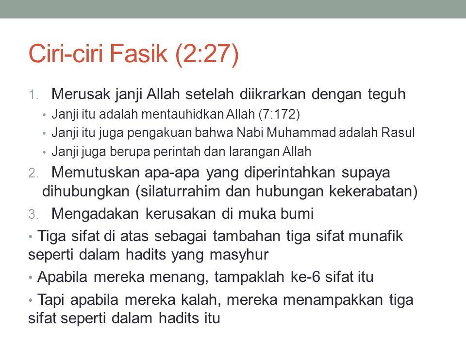 Ciri-ciri Fasik (2:27) 1.
