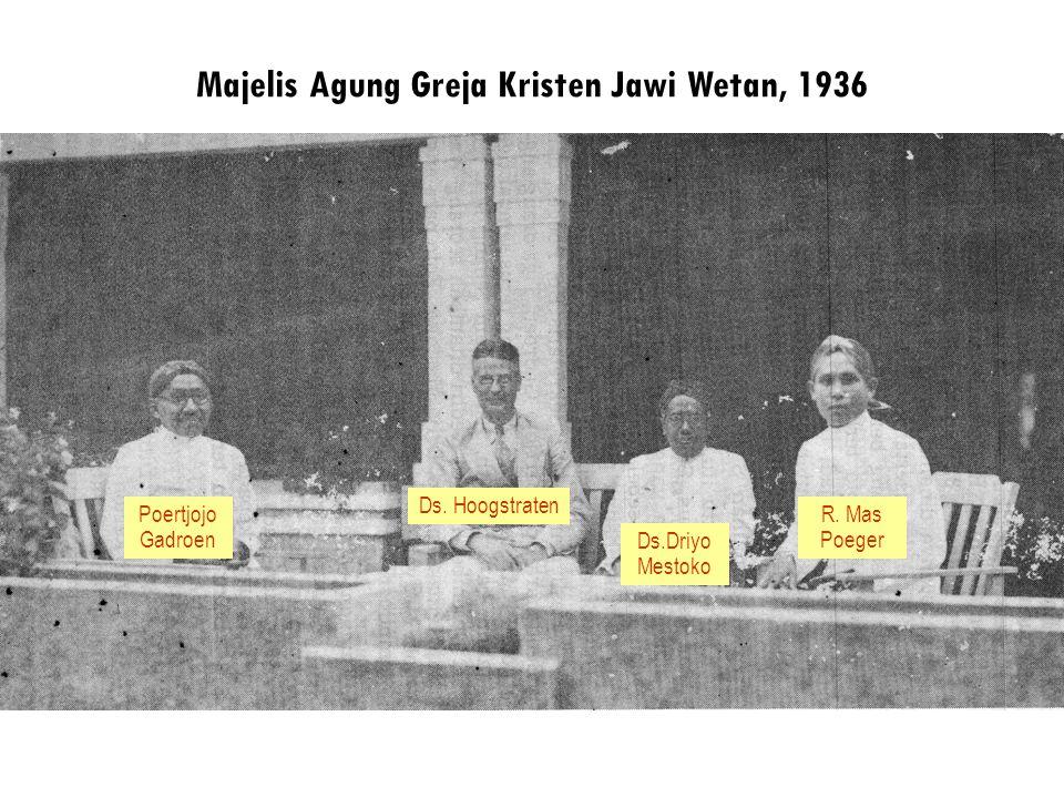 Majelis Agung Greja Kristen Jawi Wetan, 1936 Poertjojo Gadroen Ds.Driyo Mestoko R. Mas Poeger Ds. Hoogstraten