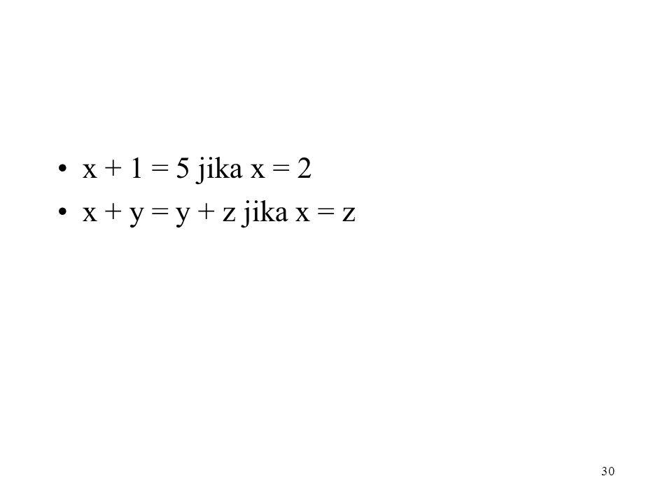 LATIHAN Berilah nilai konstanta proposional T atau F pada pernyataan berikut.