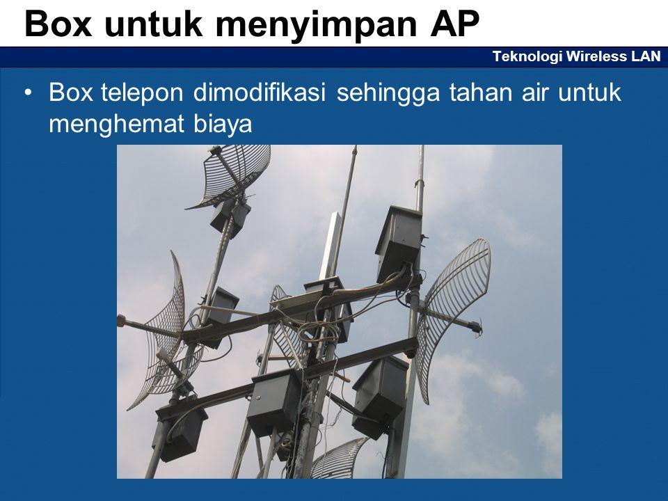Teknologi Wireless LAN Box telepon dimodifikasi sehingga tahan air untuk menghemat biaya Box untuk menyimpan AP