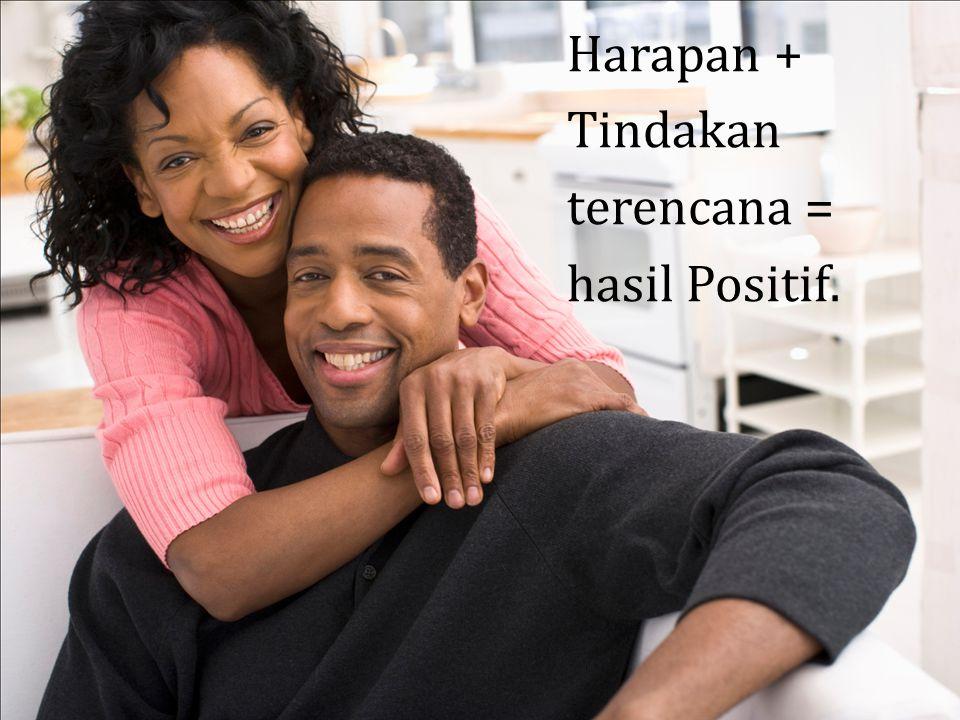 Harapan + Tindakan terencana = hasil Positif.