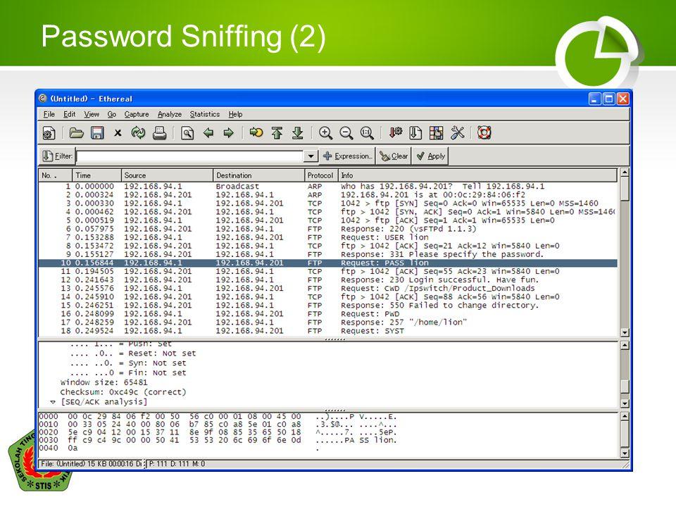 Password Sniffing (2)