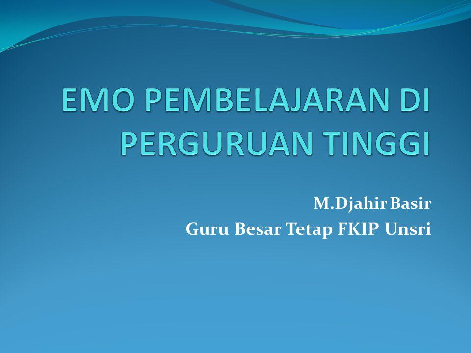 M.Djahir Basir Guru Besar Tetap FKIP Unsri