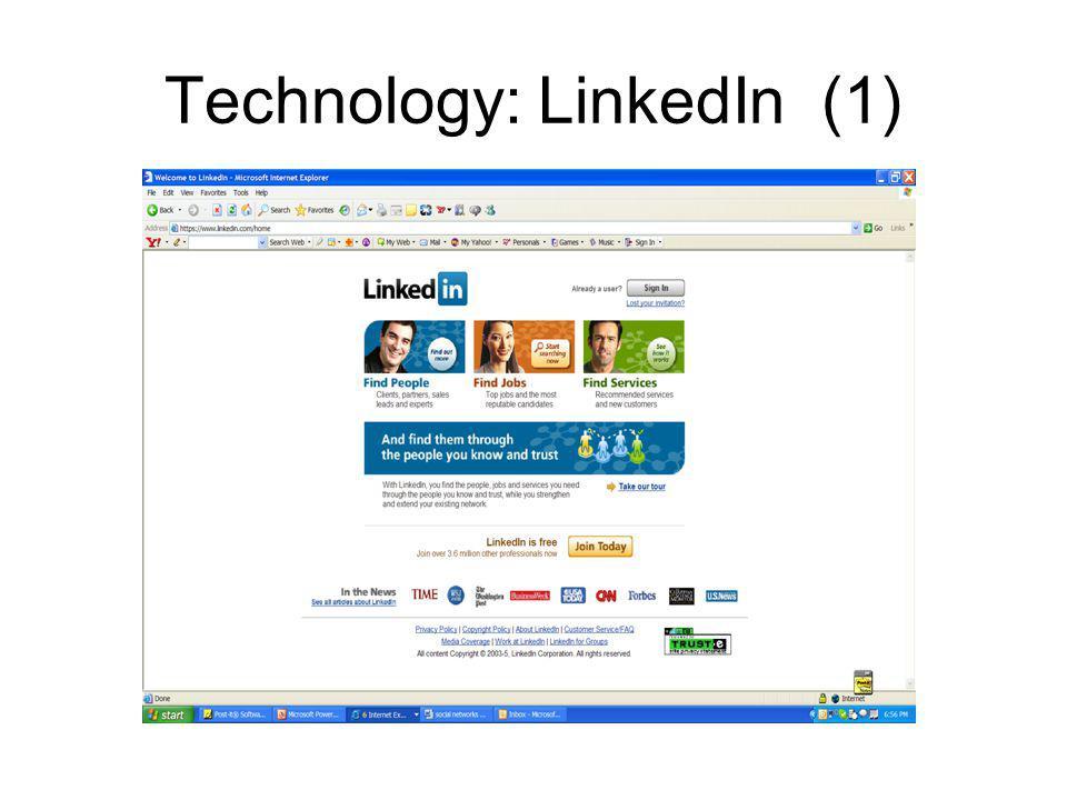 Technology: LinkedIn (1)