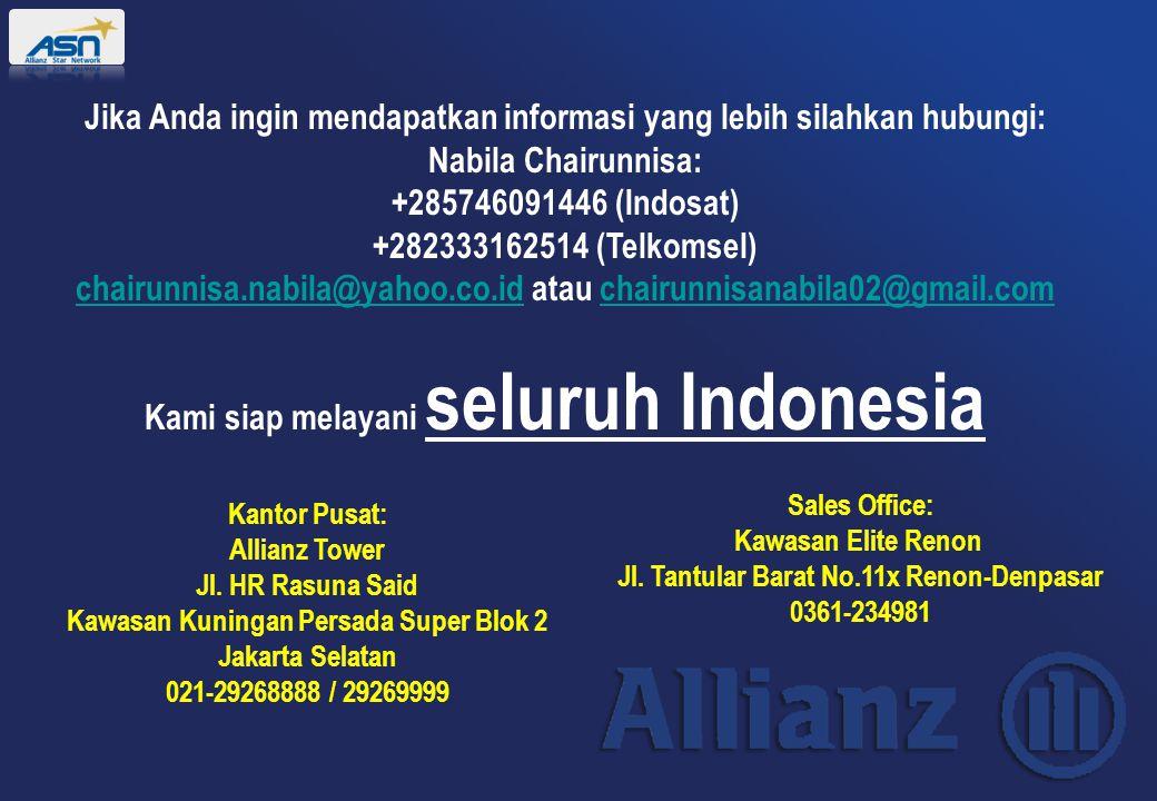 Jika Anda ingin mendapatkan informasi yang lebih silahkan hubungi: Nabila Chairunnisa: +285746091446 (Indosat) +282333162514 (Telkomsel) chairunnisa.n