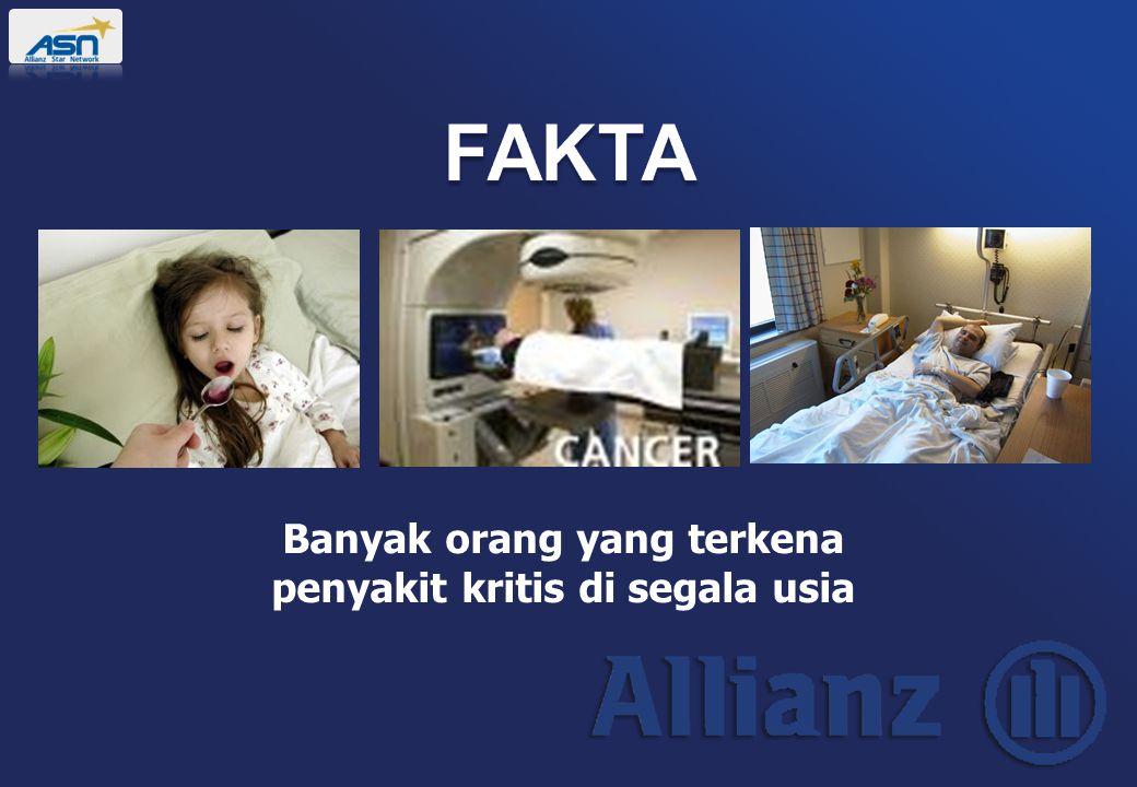 Banyak orang yang terkena penyakit kritis di segala usia