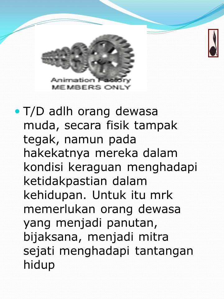 Membina pramuka T/D berarti mendalami dunia T/D baik secara psikis maupun pendekatan lainnya dengan dasar kodrati, didaktis, pertumbuhan dan perkemban
