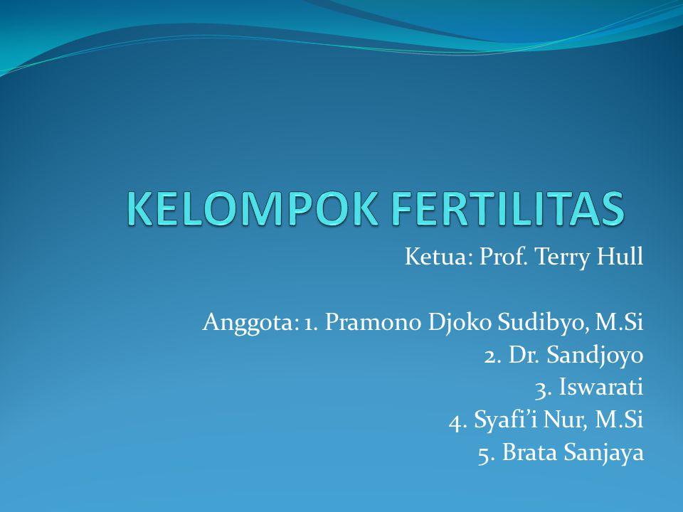 Ketua: Prof. Terry Hull Anggota: 1. Pramono Djoko Sudibyo, M.Si 2. Dr. Sandjoyo 3. Iswarati 4. Syafi'i Nur, M.Si 5. Brata Sanjaya