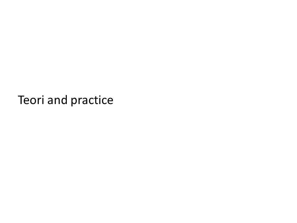Teori and practice