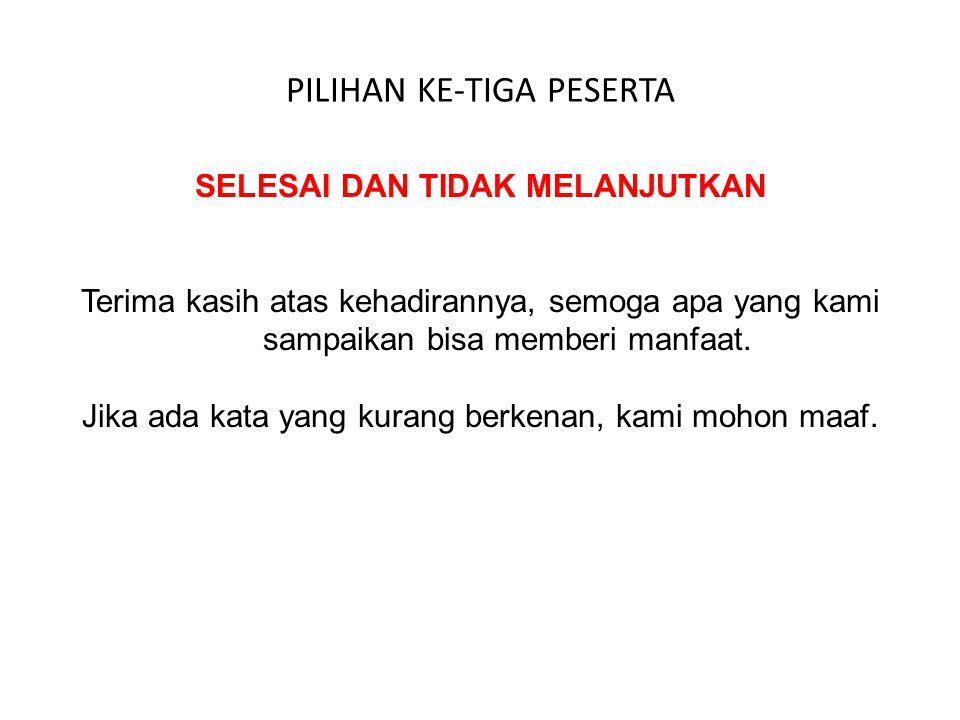 PILIHAN KE-EMPAT PESERTA INGIN MENGIKUTI PELATIHAN REGULER YANG DILAKUKAN OLEH PROPERTY PLUS INDONESIA Silakan membuka website PROPERTY PLUS INDONESIA dengan alamat www.propertyplusindonesia.com MENJADI MITRA DALAM PENGEMBANGAN PROPERTY PLUS DI SELURUH INDONESIA Bisa menghubungi ke 081 1250 5789 Atau email ke proplus2015@yahoo.com
