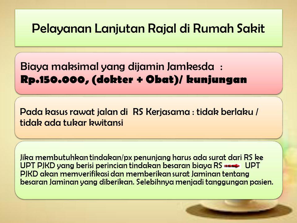 Pelayanan Lanjutan Rajal di Rumah Sakit Petugas pendaftaran RS memverifikasi dokumen : Surat rujukan (dari Puskesmas/dr.