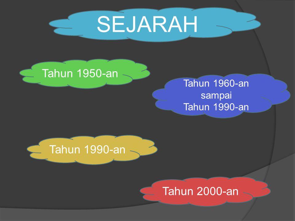 SEJARAH Tahun 1950-an Tahun 2000-an Tahun 1960-an sampai Tahun 1990-an