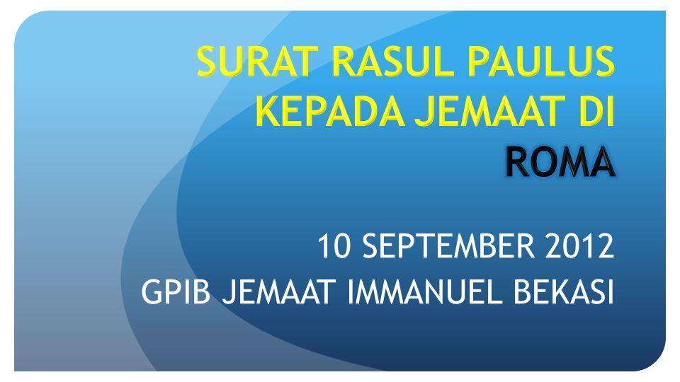 10 SEPTEMBER 2012 GPIB JEMAAT IMMANUEL BEKASI