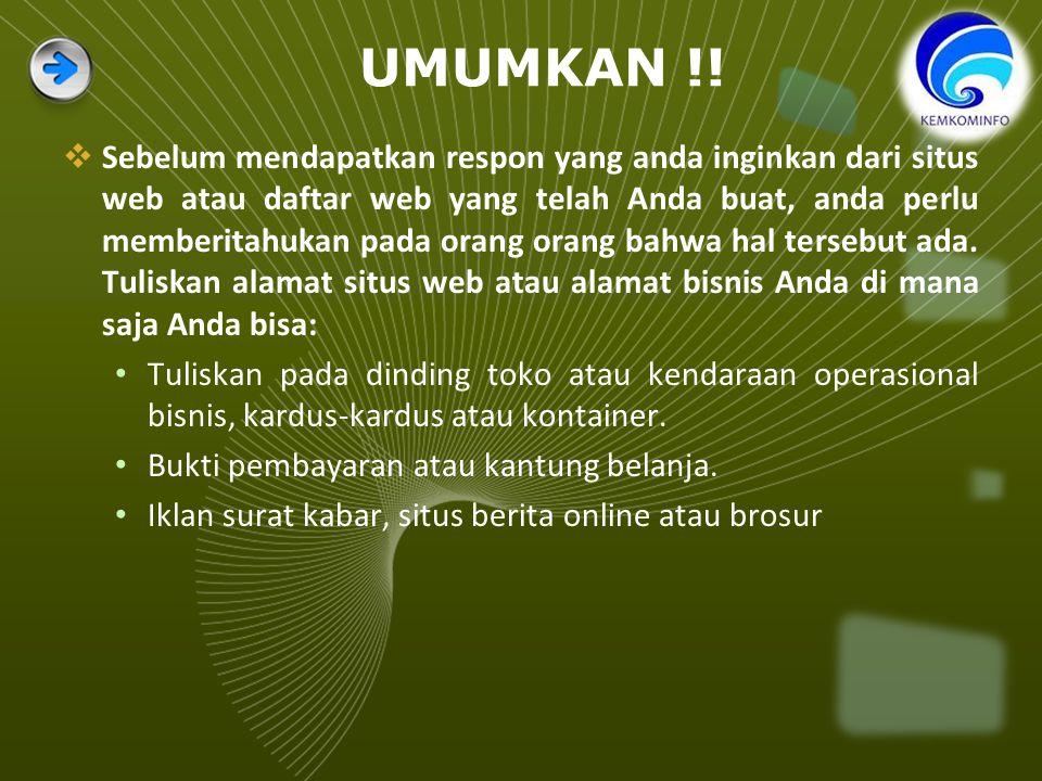 UMUMKAN !.