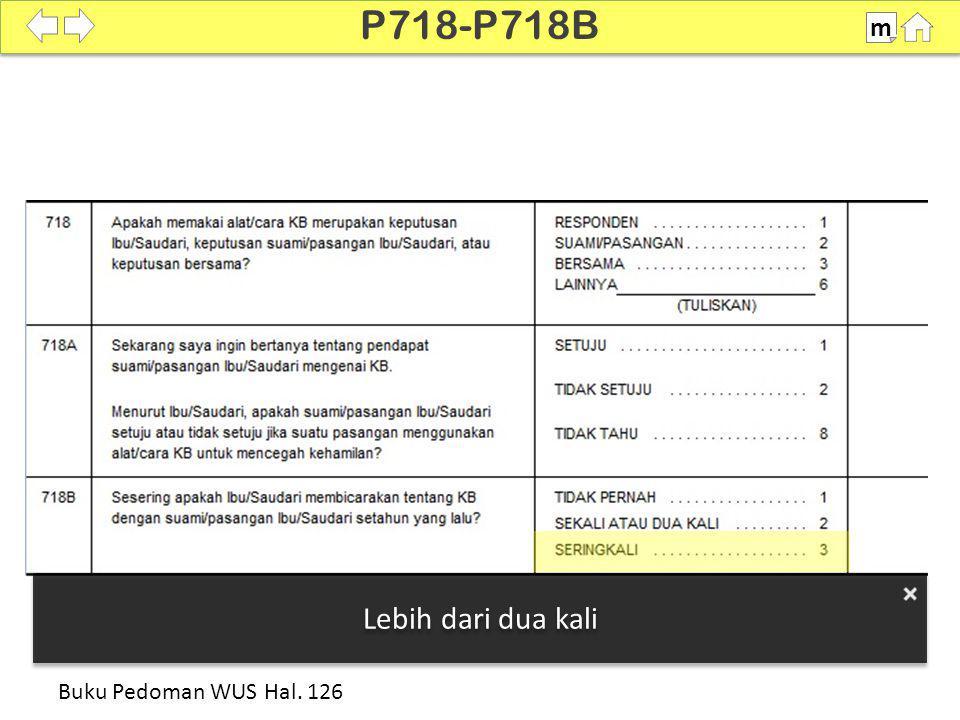 100% P718-P718B m Buku Pedoman WUS Hal. 126 Lebih dari dua kali