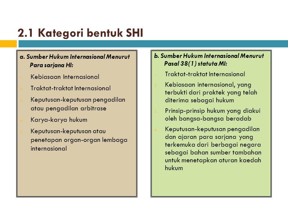 Diskusi:  Manakah diantara ke-5 sumber hukum Internasional sebagaimana tersebut dalam Pasal 38 ayat (1) statuta MI yang digolongkan ke dalam sumber hukum Primer dan subsider.