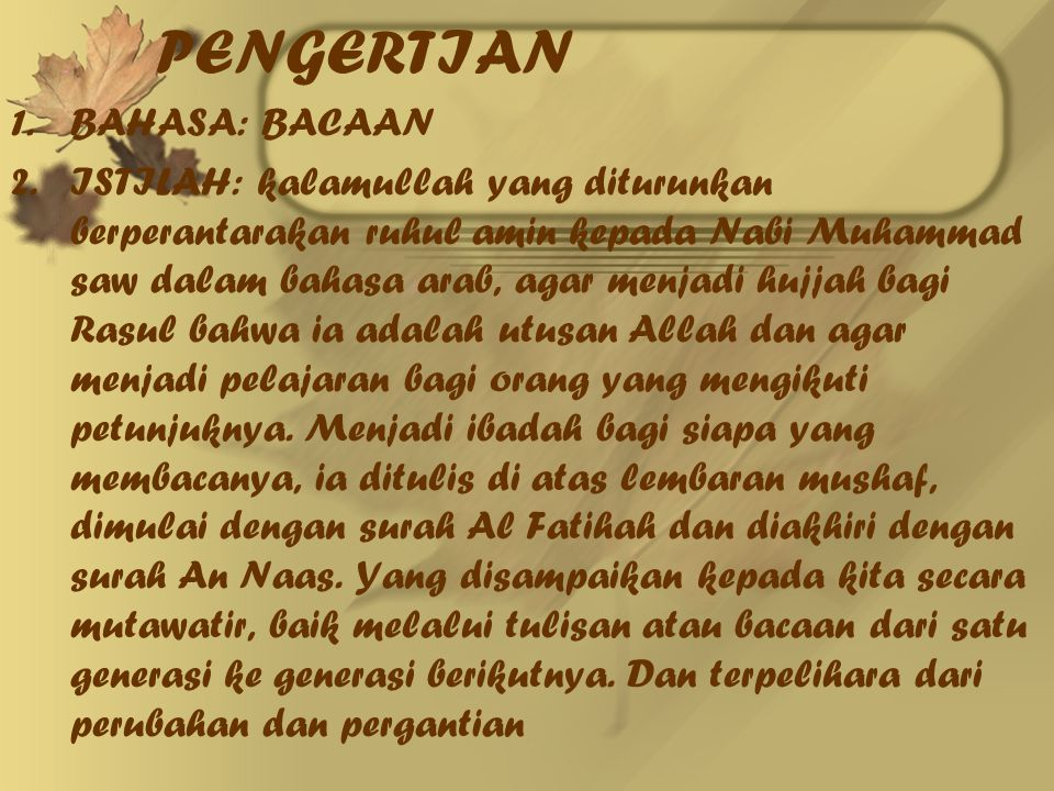 KEDUDUKAN DAN FUNGSI DALAM HUKUM ISLAM 1.