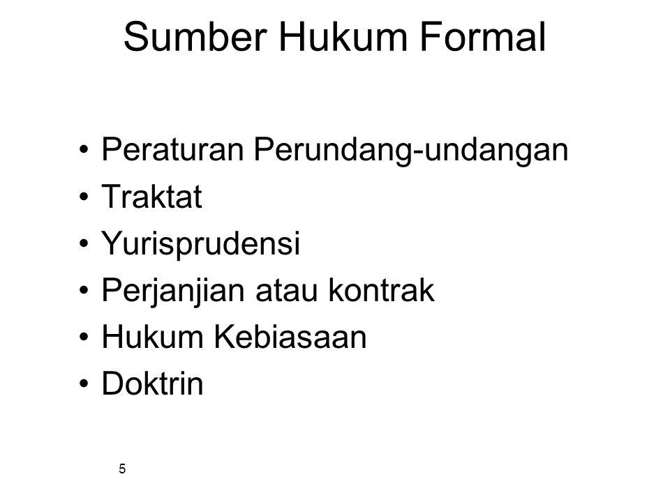 4 Sumber Hukum Formal Determinan formal membentuk hukum, menentukan berlakunya hukumDeterminan formal membentuk hukum, menentukan berlakunya hukum Tem