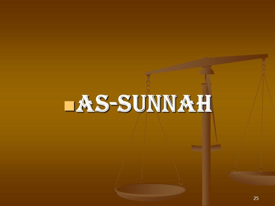 AS-SUNNAH AS-SUNNAH 25