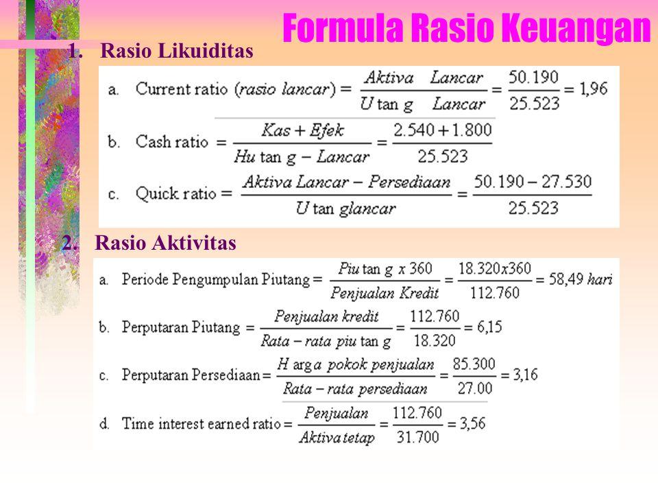 Formula Rasio Keuangan 3. Rasio Leverage 4. Rasio Profitabilitas