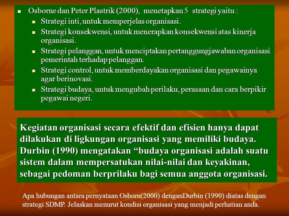 """Kegiatan organisasi secara efektif dan efisien hanya dapat dilakukan di ligkungan organisasi yang memiliki budaya. Durbin (1990) mengatakan """"budaya or"""