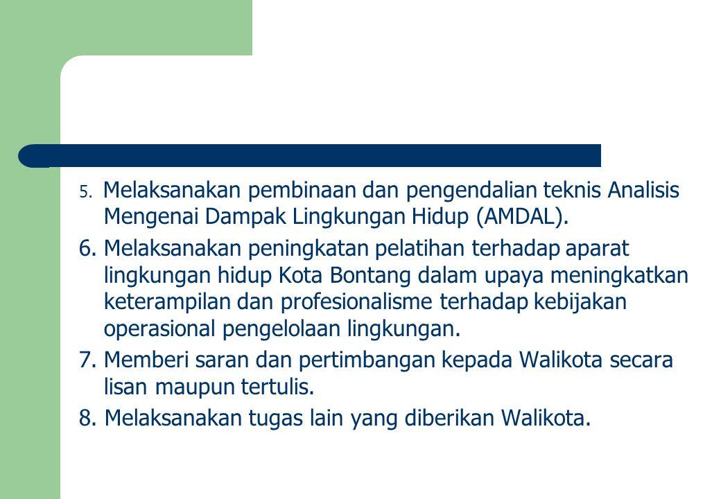DASAR HUKUM PEMBENTUKAN DINAS LH & SDA KOTA BONTANG UU No.
