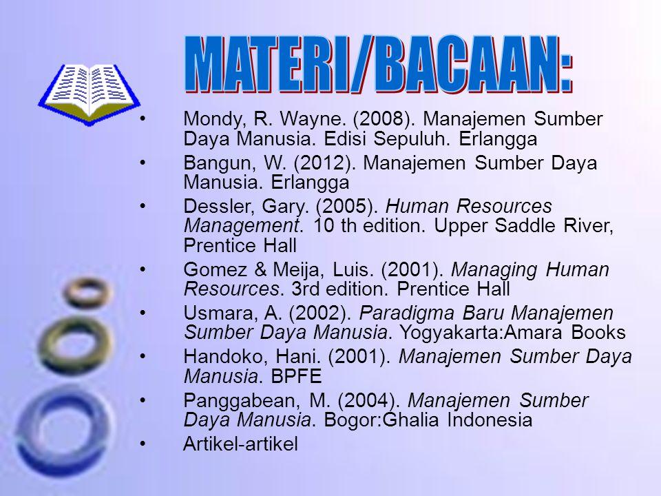 Mondy, R.Wayne. (2008). Manajemen Sumber Daya Manusia.