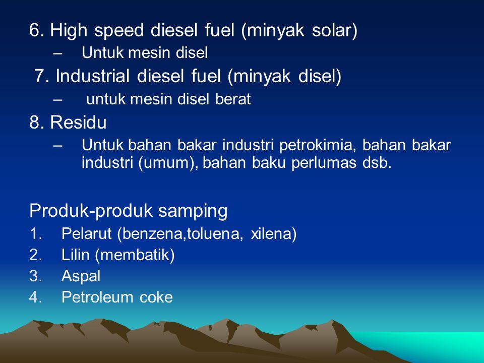 6.High speed diesel fuel (minyak solar) –Untuk mesin disel 7.