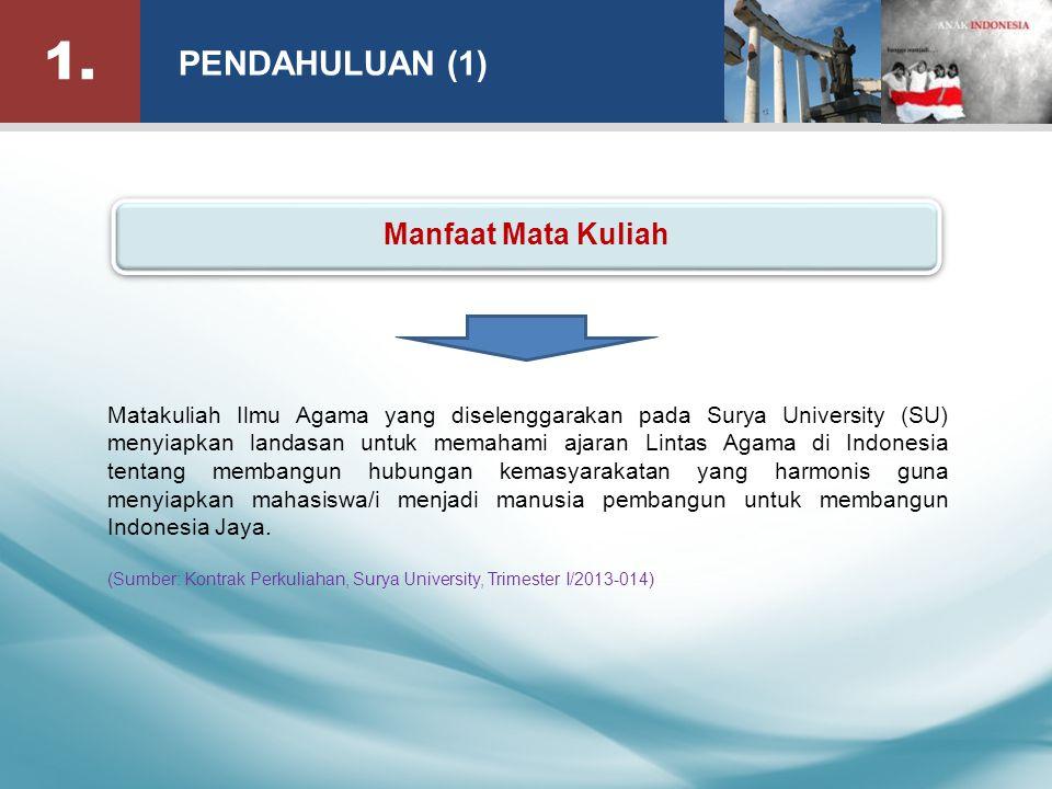 12. DISKUSI KELAS (1) Sumbangan mahasiswa sebagai pribadi beragama untuk membangun Indonesia Jaya