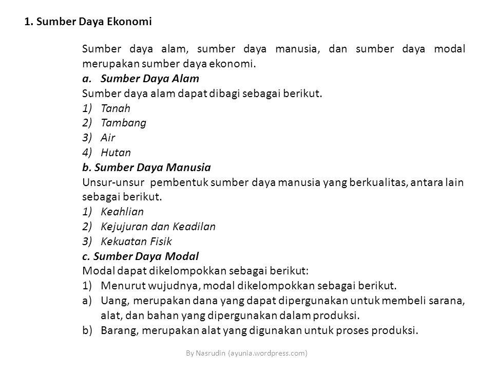 Lanjutan 2)Menurut sifatnya, modal dikelompokkan sebagai berikut.